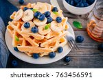 Fresh Homemade Waffles With...