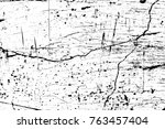 grunge black and white pattern. ... | Shutterstock . vector #763457404