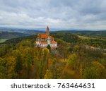 castle bouzov in czech republic ... | Shutterstock . vector #763464631