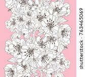 elegant seamless pattern with... | Shutterstock .eps vector #763465069