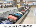 suitcase or luggage with... | Shutterstock . vector #763465981