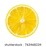 lemon slice  saved with... | Shutterstock . vector #763468234