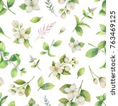 watercolor seamless pattern... | Shutterstock . vector #763469125