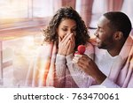 happiness. close up of cheerful ... | Shutterstock . vector #763470061