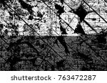grunge black and white pattern. ... | Shutterstock . vector #763472287