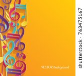 colorful music background....   Shutterstock .eps vector #763475167