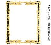 3d illustration of golden... | Shutterstock . vector #763476781