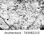 grunge black and white pattern. ... | Shutterstock . vector #763482115