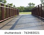 the bridge across the river | Shutterstock . vector #763483021