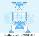 vector illustration in flat... | Shutterstock .eps vector #763485847