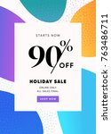 90  holiday sale special price... | Shutterstock .eps vector #763486711