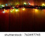 christmas background with... | Shutterstock . vector #763497745