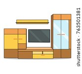 furniture for living room... | Shutterstock . vector #763501381