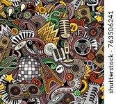 cartoon cute doodles disco... | Shutterstock .eps vector #763506241