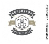 motorcycle club logo template... | Shutterstock .eps vector #763506319