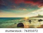 Sunrise Over The Sea. Con Dao....