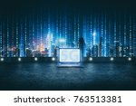 5g network wireless systems and ... | Shutterstock . vector #763513381