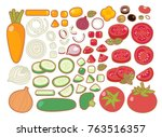 collection set of clean organic ...