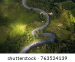 aerial view of road on the... | Shutterstock . vector #763524139