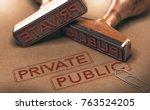 3d illustration of two rubber...   Shutterstock . vector #763524205