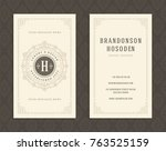 luxury business card and... | Shutterstock .eps vector #763525159