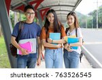 students university asian...   Shutterstock . vector #763526545
