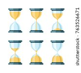 hourglass modern vector icons...