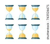 hourglass modern vector icons... | Shutterstock .eps vector #763526671