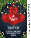 invitation to a christmas party....   Shutterstock .eps vector #763527229