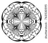 vector abstract circle...   Shutterstock .eps vector #763530595