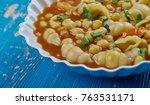 mama mia's minestrone  soup  ...   Shutterstock . vector #763531171