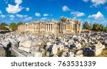 ruins of agora  ancient city in ... | Shutterstock . vector #763531339
