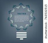 together concept. business... | Shutterstock .eps vector #763532515