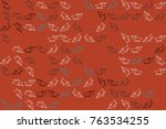 christmas pattern with... | Shutterstock .eps vector #763534255