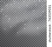 snow. vector transparent... | Shutterstock .eps vector #763539031