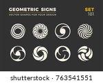 set of eight minimalistic... | Shutterstock .eps vector #763541551