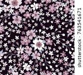 floral seamless pattern.... | Shutterstock .eps vector #763541671