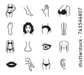 human body parts icons | Shutterstock .eps vector #763546807