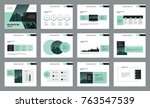 business presentation page... | Shutterstock .eps vector #763547539