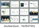 business presentation page...   Shutterstock .eps vector #763547551