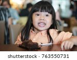asian children cute or kid girl ... | Shutterstock . vector #763550731