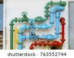pipe for water piping system  | Shutterstock . vector #763552744