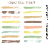 modern watercolor daubs set ... | Shutterstock .eps vector #763552825