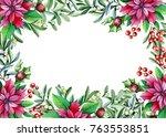 christmas card template.... | Shutterstock . vector #763553851
