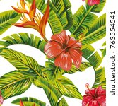 seamless vector pattern... | Shutterstock .eps vector #763554541