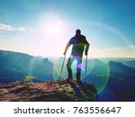 disabled man with forearm... | Shutterstock . vector #763556647