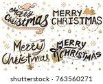 illustration of merry christmas ... | Shutterstock .eps vector #763560271