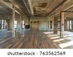an interior shot of an old ... | Shutterstock . vector #763562569
