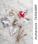 christmas tree decorations   Shutterstock . vector #763563889