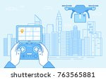 vector illustration in flat... | Shutterstock .eps vector #763565881